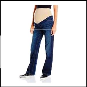 Indigo maternity jeans